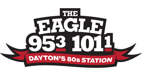 95.3 and 101.1 FM The Eagle - Dayton's 80's Station Logo