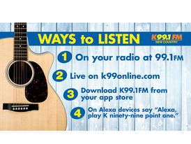 There are more ways to listen to K99.1FM