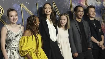 Angelina Jolie's daughter Shiloh wears mom's Dior dress to 'Eternals' UK premiere