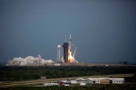 Photos: SpaceX rocket lifts off in historic launch